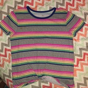 Front knot T shirt Sonoma 10 see pic for stain